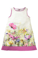 free shipping to every country!wholesale girls brand flower sundress,kids cotton dresses