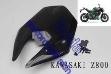 negro libre del envío motocicleta parabrisas parabrisas para kawasaki z800 2012 2013 2014 doble burbuja(China (Mainland))
