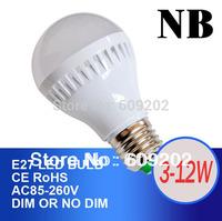 Wholesale E27 B22 Led Light Bulb 3W 5W 7W 9W 10W 12W 15W LED Bulb Lamp, 110V 220v 240V Cold Warm White Led Spotlight