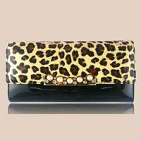 5pcs/lot  D101 2014 new fashion wallet Miss Han Ban candy-colored leopard Wallet Wallets Women Wallets free shipping