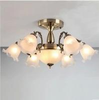 Fashion pendant simple european living room lights lighting wrought iron living room rustic