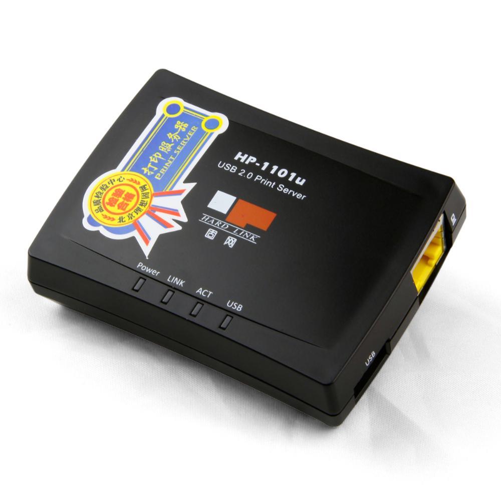 Genuine HP-1101U fixed-line network print server USB2.0 printer network sharing(China (Mainland))