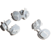 5PCS rubber button for Shure SLX24 beta 58/ SLX4/SLX24/SLX2 button parts to replace the broken one