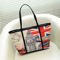 Korea style Spring New Fashion PU Large capacity Leisure woman Shoulder Bags Multiple Styles handbag Daily use Travel Wholesale