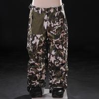Monoboard grenade skiing pants Camouflage doodle 3