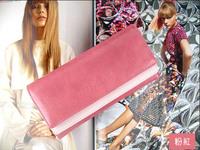 10pcs/lot   W101 women's PU envelope clutch bag long leather Wallet Ladies designer Purse Checkbook Handbag drop shipping