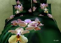 New Beautiful 100% Cotton 4pc Doona Duvet QUILT Cover Set bedding sets Full Queen King 4pcs nice flower green FS-659