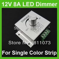 Wholesale +12V 8A LED Light Dimmer Brightness Adjustable Controller For 5050 3528 strip
