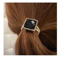 Min. order is $10 (mix orderz) fashion Korea square big imitation gem Hair bands jewelry! cRYSTAL sHOP free shipping