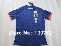 New arrival 2014 world cup top Thailand Quality Players version Japan home blue soccer Football jersey,14/15 Japan soccer jersey