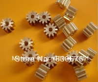 Brass pinion 0.5MOULD, 7TOOTH,hole 1.5mm, outer diameter 4.5mm, height 3.5mm