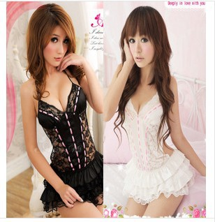 Free shipping Sexy Lingerie Dress Princess uniform sexy lingerie ladys sexy costumes Fashion Sleepwear Underwear Uniform(China (Mainland))
