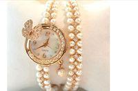 Women Rhinestone Watches 2014  Ladies Dress Watches Diamond Girls Luxury Watches Female Butterfly Watch Pearl Rose Gold Watches