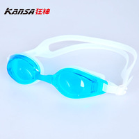 free-shopping Comfortable swimming glasses plain waterproof anti-fog goggles