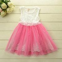 2014 New Summer girls Dream Princess lace vest dress baby girls party dress Inner bud silk  pretty dress 5pcs/lot