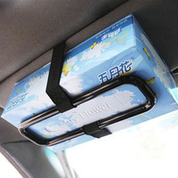 Summer hot car tissue box holder hanging paper towel holder portable carton frame sun-shading board back mount