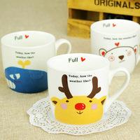 Meters breakfast cup animal cup ceramic cup glass milk cup band cartoon mug