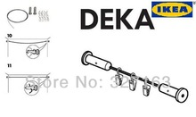 NEW IKEA DEKA DIY CURTAIN ROD WIRE + CLIPS HANGING SYSTEM ROOM DIVIDER FREE SHIPPING(China (Mainland))