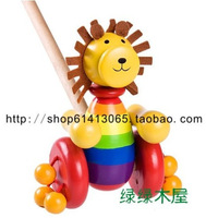 Hot-selling hot-selling lion wool handcars wheels hadnd baby toddler toys hyper !  free shipping