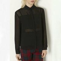 Free shipping/ New Women's Fashion/springtime new style Euramerican chiffon long sleeve lapel Women's Shirts