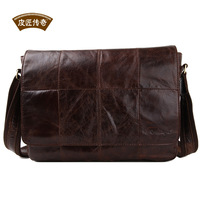 Fashion messenger bag commercial casual male brief messenger bag vintage first layer of cowhide genuine leather bag man bag