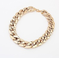Min order 10USD(Mix order) SJB412 Western Style Fashion CCP Gold Chain Necklaces & Pendants