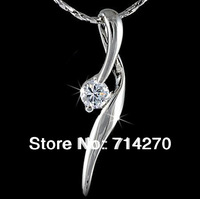 Free Shipping 18K sterling Silver GP Austrian Crystal Necklace Pendants, Brand Sunshine Jewelry accessories  G925-B
