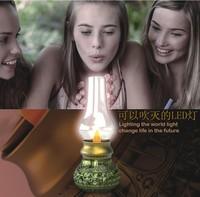 Retro Classic Blow LED Lamp miro USB Recharging Blowing Control Kerosene LED Candle Lamp