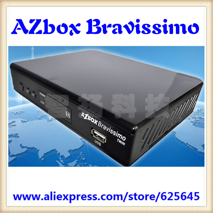 Free shipping Brazil South America Azbox Bravissimo Satellite Receiver SKS HD With Twin Tuner Wifi Azbox Linux OS Set Top Box(China (Mainland))