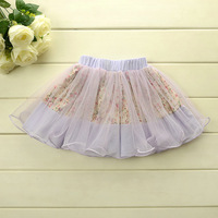 New 2014 Summer Boutique girls princess lace tutu skirt baby girls lace yarn tutu skirt  baby floral skirt 5pcs/lot