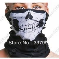 Motorcycle Bike Skull Multi functional Headwear Hat Scarf Face Mask Cap New Free shipping