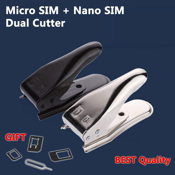 2 в 1 Nano sim карта резак для iPhone 5 4S 4 samsung двойной sim резак + карта восстановления адаптер + карта булавка