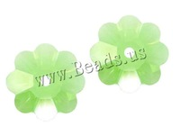 Free shipping!!! Crystal Beads,Promotion, Flower, faceted, Peridot, 8mm, Hole:Approx 1.5mm, 288PCs/Bag, Sold By Bag