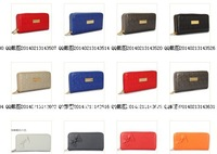 8 colors free shipping new women's fashion designer clutch single zipper wallet PU leather wallet