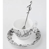 Violin espresso cup fancy  strengthen porcelain mug 160ML