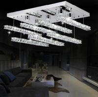 Free shipping modern brief led crystal chandelier, L65*W45*H55cm LED light for living room
