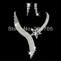 Fashion Wedding Bridal Bridesmaid Rhinestone Crystal Party Jewelry Tassel Necklace & Earrings Set ~ BRIDESMAID BRIDAL Jewelry