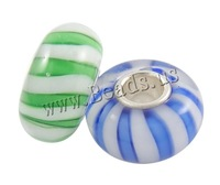 Free shipping!!!Lampwork Beads European Style,DIY,Jewelry DIY, Rondelle, handmade, brass single core without troll & stripe