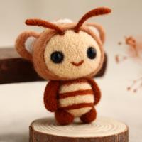 Wool felt poke fun diy handmade material kit