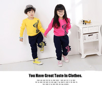 2014 Spring New Style Children's Set 100%Cotton zebra Print Children's Suit Fashion&High Quality 2Colors.