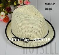 Wholesale Caps 2013 NEW Women Straw Fedora Beautiful Fashion Straw Sun Hats Ladies Fedoras Cap Summer Beach Hat Womens Headwear