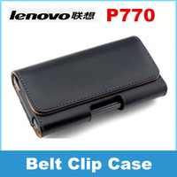 Lenovo P770 phone Leather Case Belt Clip Pouch