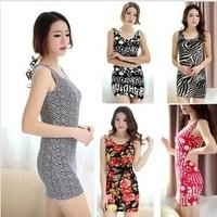 Free shipping 2014 6 style summer new Fashion sexy sundress Slim wild ladies dress patterns Hot sale