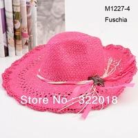 Wholesale 6pcs Mix Colors COOL 2013 NEW Unisex Wide Brimmed Floppy Hats Men Straw Hat Women Sun Cap Large Brim Summer Beach Hats