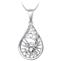 Free shipping, 925 Silver pendant necklace Louhua water drops, fashion silver jewelrywomen birthday gift N054
