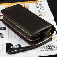 LZ Commercial 2014 fashion double zipper clutch male men's day clutch bag wallet man bag 20.5*11*5cm