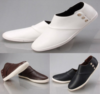 New Fashion Men's Flats Ankle Boots Business Shoes Slip on Sneakers Loafers Hot