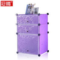 Fashion modern bedside cabinet brief folding simple resin bedsprings home bedside shelf