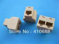 5 Pcs CAT5 3 Ports RJ45 Splitter Lan Ethernet Network Coupler Connector Plug