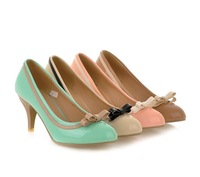 large women pumps,2014 butterfly sweet high heels shoes for ladys